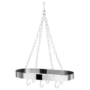 Oval Ceiling Rack - Matt Chrome