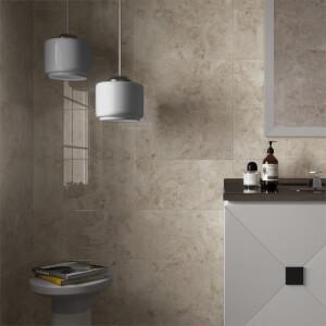 Modena Cappuccino Wall Tile - 25x50
