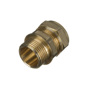Compression Male Coupler 15mm x 0.75in