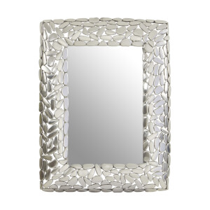 Temple Pebble Effect Rect Wall Mirror