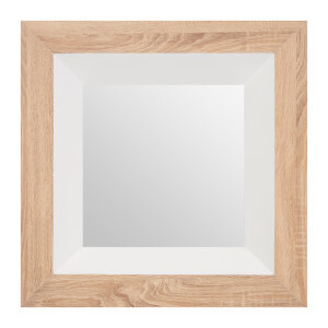 White Gloss Wood Wall Mirror