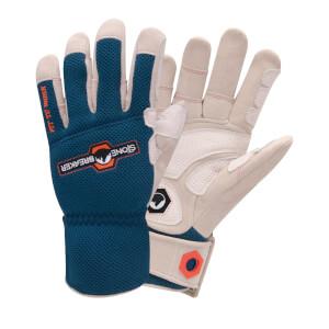 Stonebreaker Landscape Pro Ultimate Outdoor Work Gloves - Medium - Blue