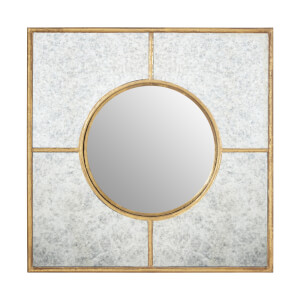 Zara Gold Art Deco Wall Mirror