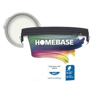 Homebase Matt Paint - Pure Brilliant White 10L