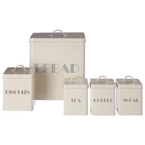 5 Piece Storage Set - Cream