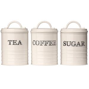 Sketch Tea, Coffee & Sugar Canisters