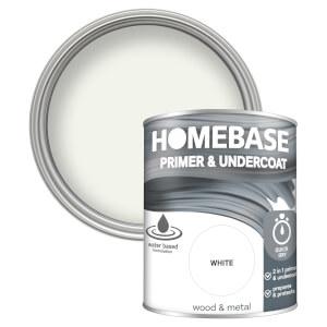Homebase Interior Quick Dry Primer Undercoat - White 750ml