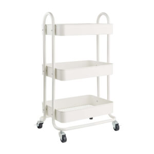 3 Tier Storage Trolley - White