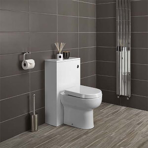 Bathstore Alpine Duo 500mm Toilet Unit (including Dual Cistern Fittings) - Gloss White