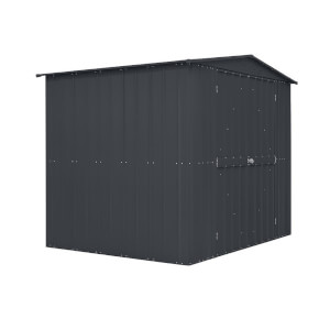 8x6ft Lotus Mobility Metal Shed Anthracite Grey