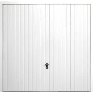 Vertical 8' x 6' 6  Frameless Steel Garage Door White