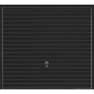 Horizontal 7' 6  x 6' 6  Framed Steel Garage Door Black