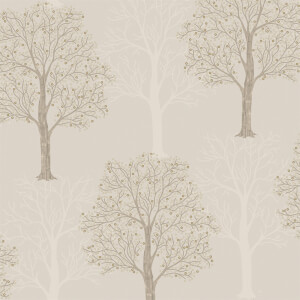 Holden Decor Ornella Tree Embossed Metallic Taupe Wallpaper