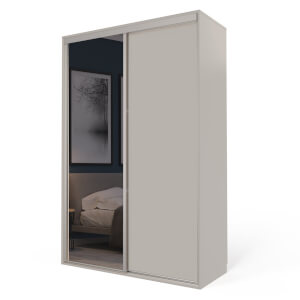 Cashmere Freestanding Sliding Wardrobe with Interiors (W)1220mm