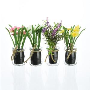 Floral Arrangements in Glass Pots