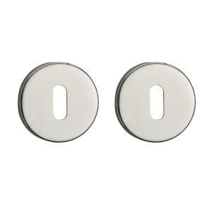 Sandleford Round Keyhole Escutcheon - Polished Stainless Steel