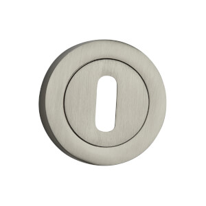 Sandleford Round Keyhole Escutcheon - Brushed Nickel