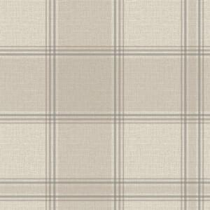 Belgravia Decor Giorgio Tartan Embossed Metallic Beige Wallpaper