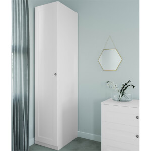 Modular Bedroom Shaker Single Wardrobe - White