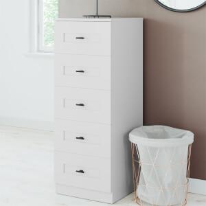 Modular Bedroom Shaker 5 Drawer Chest - Grey