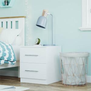 Modular Bedroom Slab Bedside Chest - White
