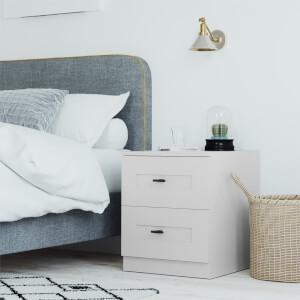 Modular Bedroom Shaker Bedside Chest - Grey