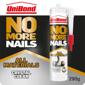 UniBond No More Nails All Materials Crystal Clear - 290g Cartridge
