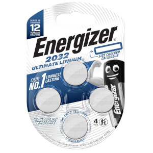 Energizer CR2032 Ultimate Lithium Coin Battery - 4 Pack