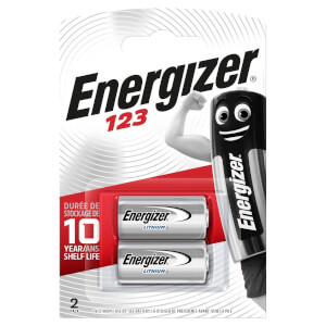 Energizer 123 Lithium Photo Batteries - 2 Pack