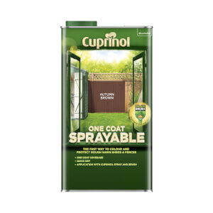 Cuprinol One Coat Sprayable Shed & Fence Paint - Autumn Brown - 5L