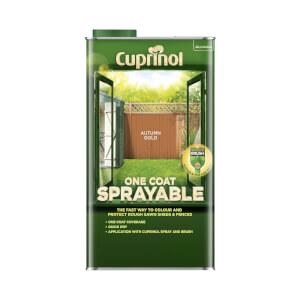 Cuprinol One Coat Sprayable Shed & Fence Paint - Autumn Gold - 5L