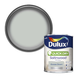 Dulux Quick Dry Satinwood Paint - Goose Down - 750ml