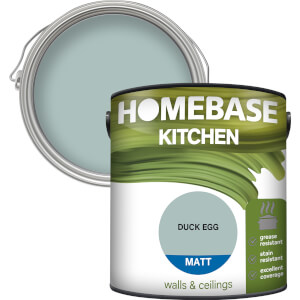 Homebase Kitchen Matt Paint - Duck Egg 2.5L