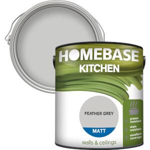 Homebase Kitchen Matt Paint - Feather Grey 2.5L
