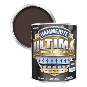 Hammerite Ultima Smooth Metal Paint - Brown - 750ml
