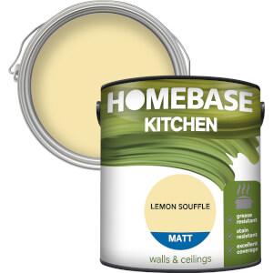 Homebase Kitchen Matt Paint - Lemon Souffle 2.5L