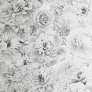 Arthouse Glitter Bloom Silver Wallpaper
