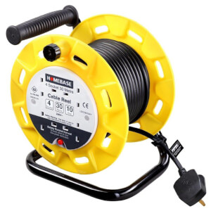 Masterplug 4 Socket Cable Reel 30m Yellow/Black