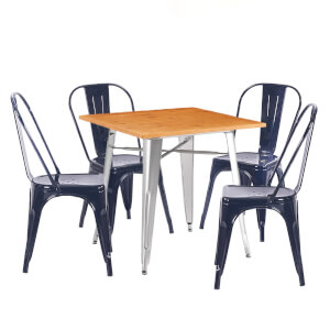 Billy Bistro 4 Seater Dining Set - Black