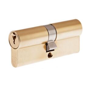 Yale Kitemarked Euro Double Cylinder - 30:10:30 (70mm) - Brass Finish