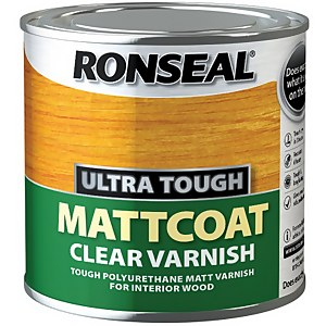 Ronseal UltraTough Matt Coat Clear Varnish - 250ml