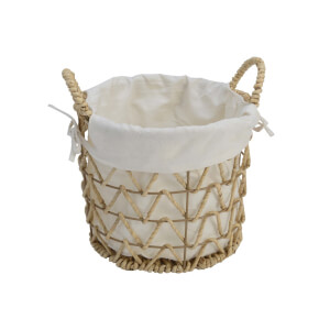 Rattan Storage Basket with Lining