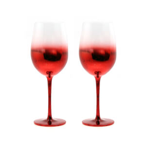 Wine Glasses - Set of 2 - Red