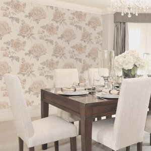 Belgravia Decor Amara Natural Rose Wallpaper