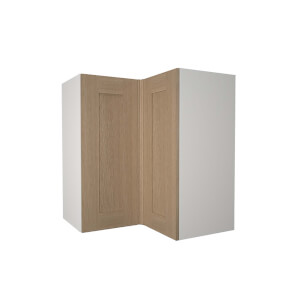 Timber Shaker Oak 635mm Corner Wall Unit