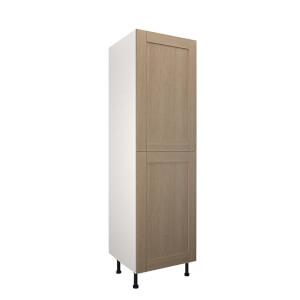 Timber Shaker Oak 600mm Larder 50:50 Fridge Freezer Unit