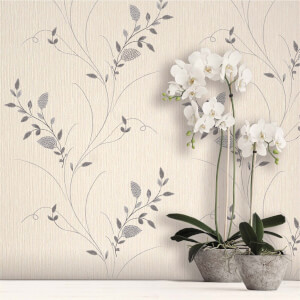Belgravia Decor Tilly Silver Trail Wallpaper