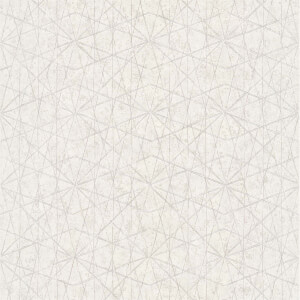 Grandeco  Wari White Wallpaper