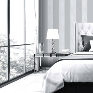 Belgravia Decor Amelie Grey Stripe Wallpaper