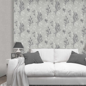 Belgravia Decor Organica Silver Leaf Wallpaper